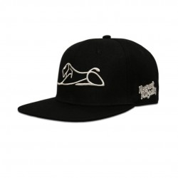 Black White Lion Snapback Adjustable Hat
