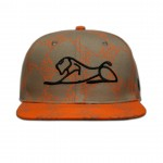 Gray/Orange Black Lion Snapback Adjustable Hat