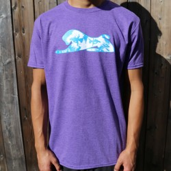 Purple Men's Lion Eyes T-Shirt