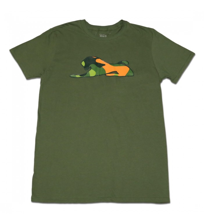 Men's Green T-Shirt with Camouflage Lion