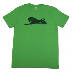 Men's Green T-Shirt with Spray Paint Lion