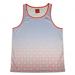 Baby Blue Tank Top with Lion Pattern