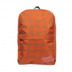 Orange Lion Pattern Backpack