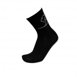 Men's Black Low Cut Socks with Gray Lion Wrap