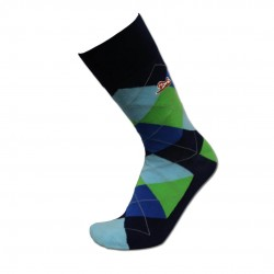 Men's Blue Argyle Sock