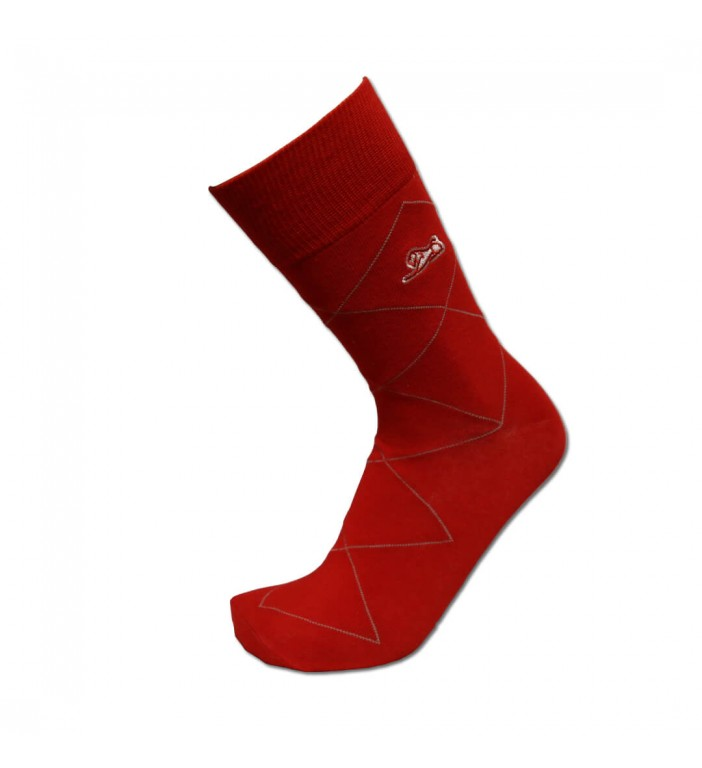 Men's Red Argyle Sock