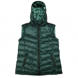 Women's Green Puffy Vest